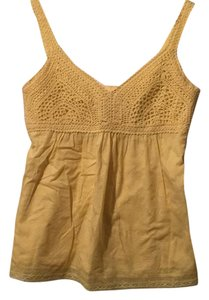 Cynthia Steffe Summer Crochet Top Yellow