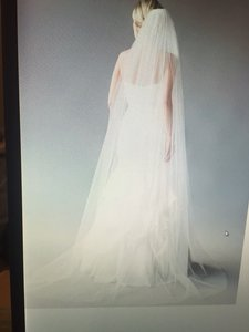 Custom Made Off White Cathedral Length Veil