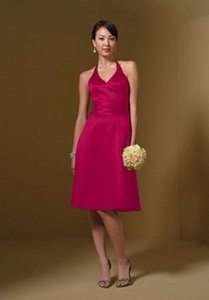 Alfred Angelo Lipstick Satin 7046 Formal Bridesmaid/Mob Dress Size 14 (L)