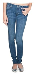 Bullhead Black Solana Date Night Casual Pacsun Buckle Skinny Jeans-Medium Wash