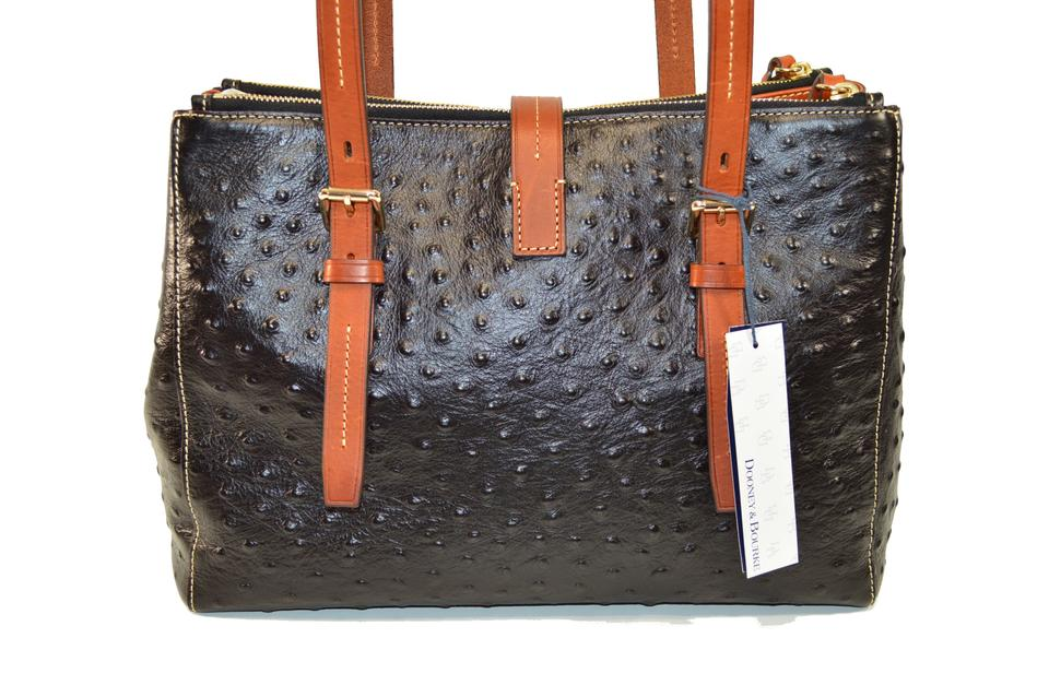 86adc2359b6 Dooney   Bourke Miller Ostrich Leather Shoulder Bag Image 9. 12345678910