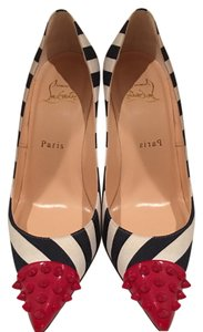 Christian Louboutin Spike Luxury Casual Blue/white/red Pumps