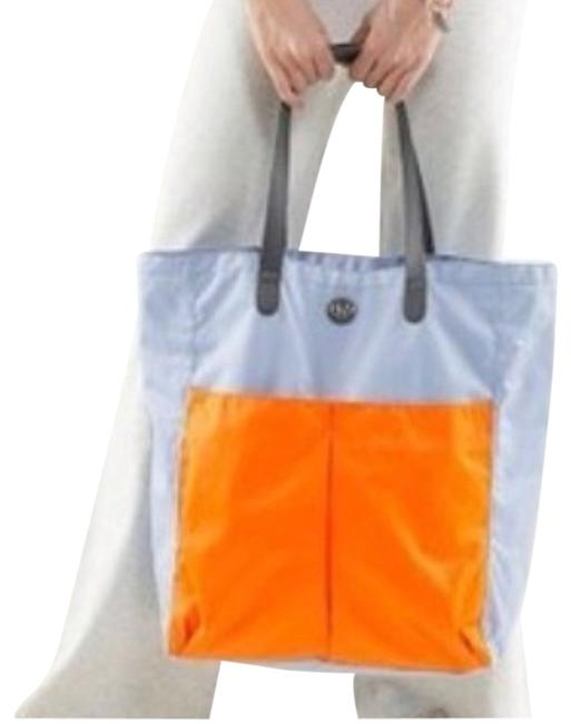 Item - Go with The Flow Baby Blue and Orange Tote