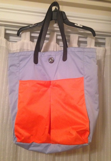 Lululemon Tote in Baby Blue And Orange