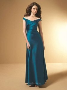 Alfred Angelo Tealness Satin 7050 Formal Bridesmaid/Mob Dress Size 10 (M)