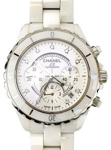 Chanel Chanel White J12 Unisex 41mm Ceramic Automatic Chronograph Watch