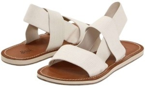 Bass Strappy Elastic Comfortable Summer Cream Sandals