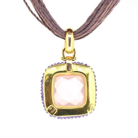 Other 18K Yellow Gold Amethyst Pink Tourmaline Rope Necklace 13.0 Grams 16