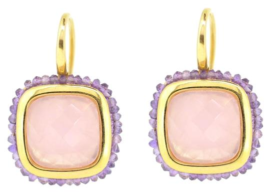 Preload https://img-static.tradesy.com/item/15959560/18k-yellow-gold-amethyst-pink-tourmaline-hoop-96-grams-earrings-0-1-540-540.jpg