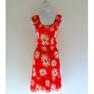 Juicy Couture short dress Red Floral Summer Ruffles on Tradesy
