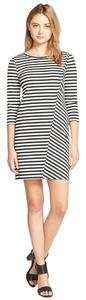 cupcakes and cashmere short dress Black & White Striped Versatile Stripe Shift on Tradesy