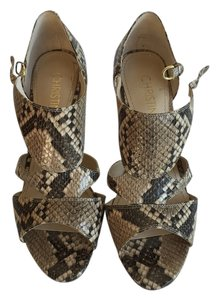 Christin Michaels brown / beige snake Sandals