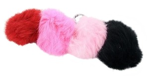 Multicolor Mini Pom Pom Key Chain Rabbit Fur Bag/Purse Charm