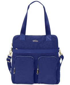 Kipling Tote in Midnight Blue Patent Combo