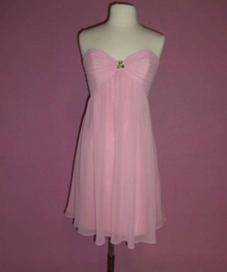 Alfred Angelo Tea Rose Chiffon 7066 Formal Bridesmaid/Mob Dress Size 10 (M)