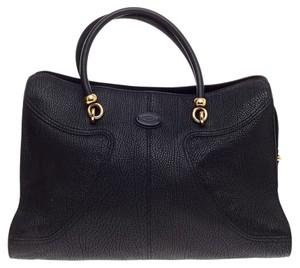 Tod's Tote Leather Satchel in Black
