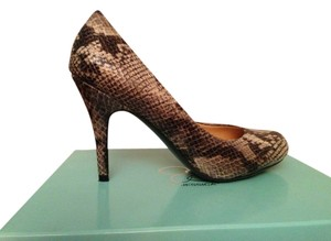 Jessica Simpson High Heel Leather Python Pumps