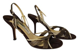 Jimmy Choo Bronze Sandals