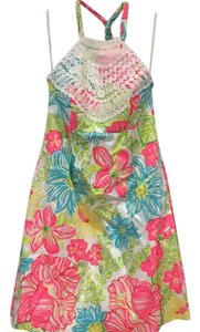 Lilly Pulitzer short dress White, Pink, Yellow, Blue, Green on Tradesy