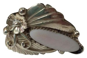 TFNC Large Sterling and mother of pearl ring. Free shipping