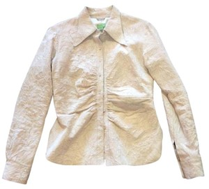 John Carlisle Cream Leather Jacket