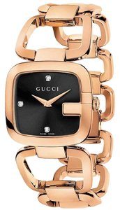 Gucci Women's Rose Gold PVD Diamond-Accented Watch YA125512