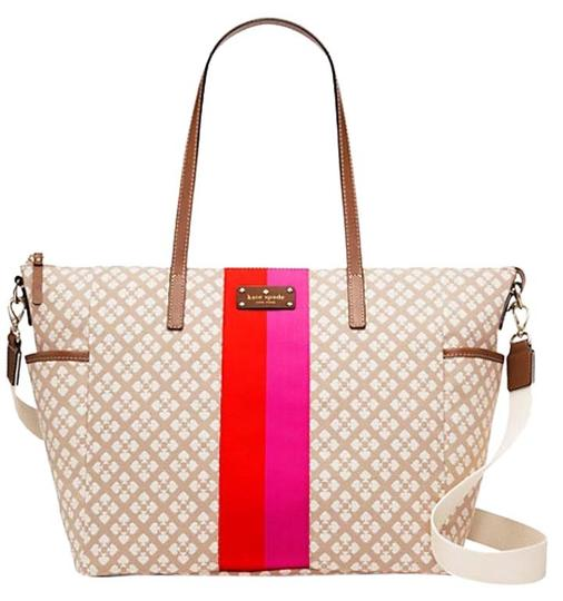 Preload https://img-static.tradesy.com/item/15961570/kate-spade-classic-adaira-msrp-stucco-cream-pink-red-canvas-with-leather-trim-diaper-bag-0-1-540-540.jpg