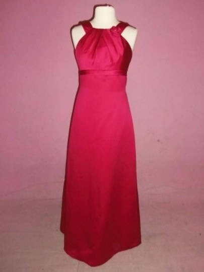 Alfred Angelo Lipstick Satin 7070 Formal Bridesmaid/Mob Dress Size 10 (M)