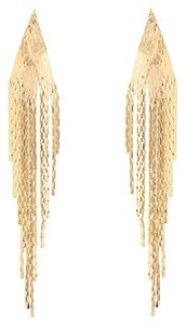 Amrita Singh New Amrita Singh Shiny Gold Waterfall Fringe Earrings New