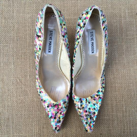 Steve Madden Sequin Pointy-toe Darring Multicolor Pumps