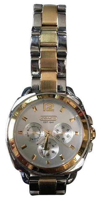 Item - Silver and Gold Two Tone Boyfriend Watch