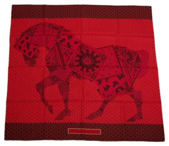 Preload https://item3.tradesy.com/images/hermes-red-cheval-sur-mon-carre-silk-twill-90cm-scarfwrap-15962677-0-1.jpg?width=440&height=440