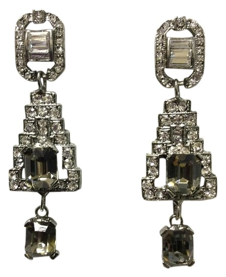 Preload https://img-static.tradesy.com/item/15962755/antique-silver-f-aux-black-diamonds-and-clear-crystals-post-earrings-0-1-540-540.jpg