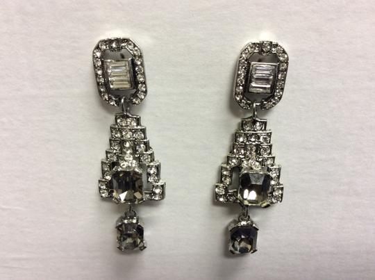 Other F aux Black Diamonds and Clear Crystals Post Earrings