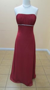 Alfred Angelo Claret Chiffon 7077 Formal Bridesmaid/Mob Dress Size 14 (L)