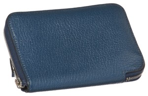 Hermes Hermes Blue Chevre Azap Small Wallet