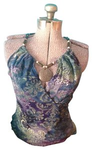Ice Necklace Polyester Spandex Nylon Top Multi color