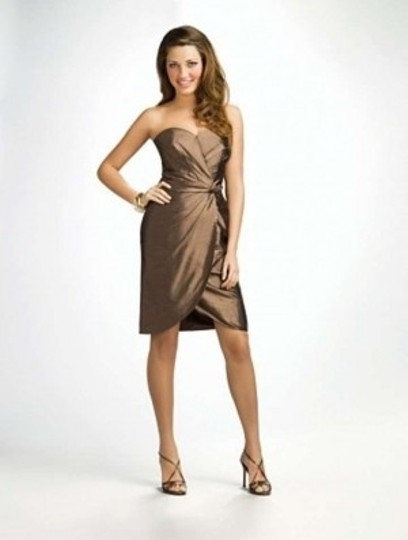 Alfred Angelo Latte Silk 7104 Formal Bridesmaid/Mob Dress Size 12 (L)