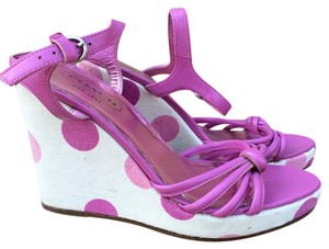 Coach Lona Polka Dot Pink Wedges