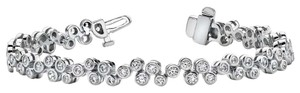 Avi and Co 2.10 cttw Round Brilliant Cut Diamond Baubles Tennis Bracelet 14K White Gold