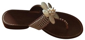 Beverly Feldman Brown Sandals