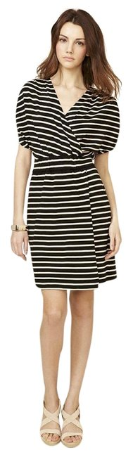 Preload https://img-static.tradesy.com/item/15964576/geren-ford-striped-black-and-white-mid-length-workoffice-dress-size-4-s-0-1-650-650.jpg