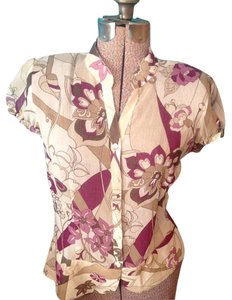 Worthington Sheer Floral Button Down Button Down Shirt