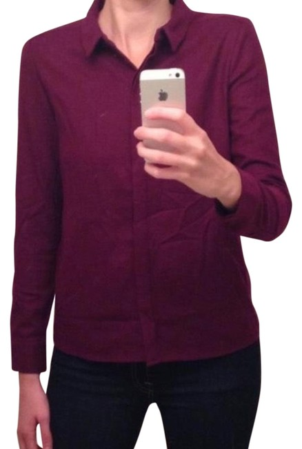 Preload https://item3.tradesy.com/images/kate-spade-burgundy-wool-button-down-top-size-4-s-15964837-0-2.jpg?width=400&height=650