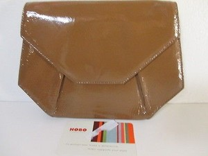 Hobo International Patent Leather Tan Clutch