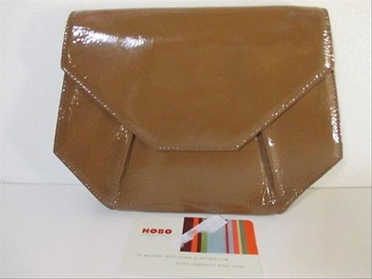 Hobo International Patent Leather Brown Clutch