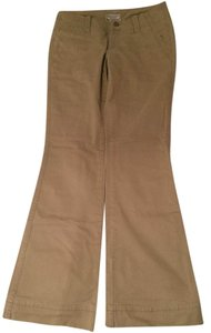 American Eagle Outfitters Khaki Flare Work Boot Cut Pants Tan