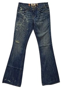 Juicy Couture Made In Usa Rhinestone Boot Cut Jeans-Distressed