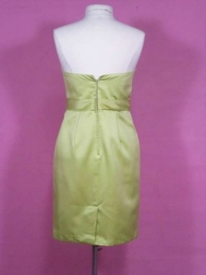 Alfred Angelo Kiwi Satin 7129 Formal Bridesmaid/Mob Dress Size 8 (M)