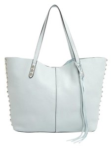 Rebecca Minkoff Unlined Studded Tote in Pale Sage / Silver